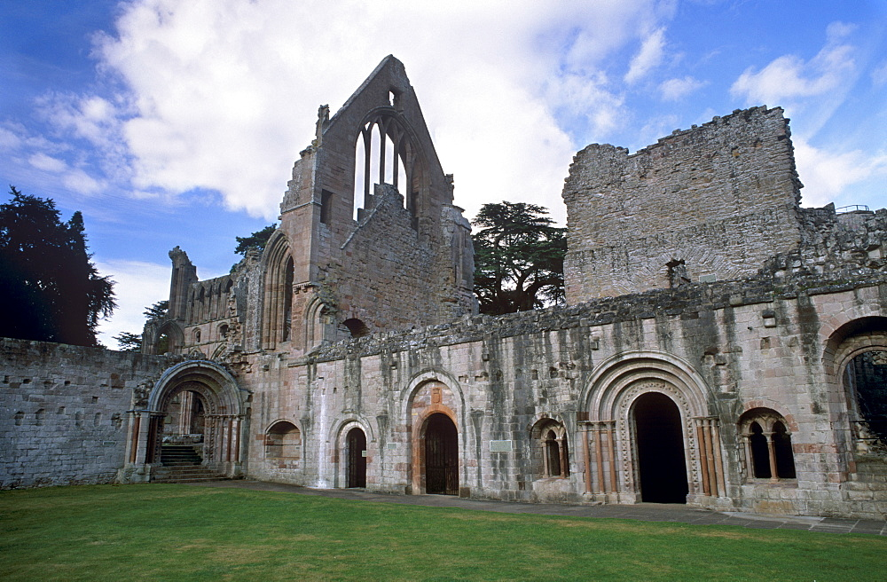 Dryburgh Abbey, founded in the 12th century, near Kelso, Scottish Borders, Scotland, United Kingdom, Europe