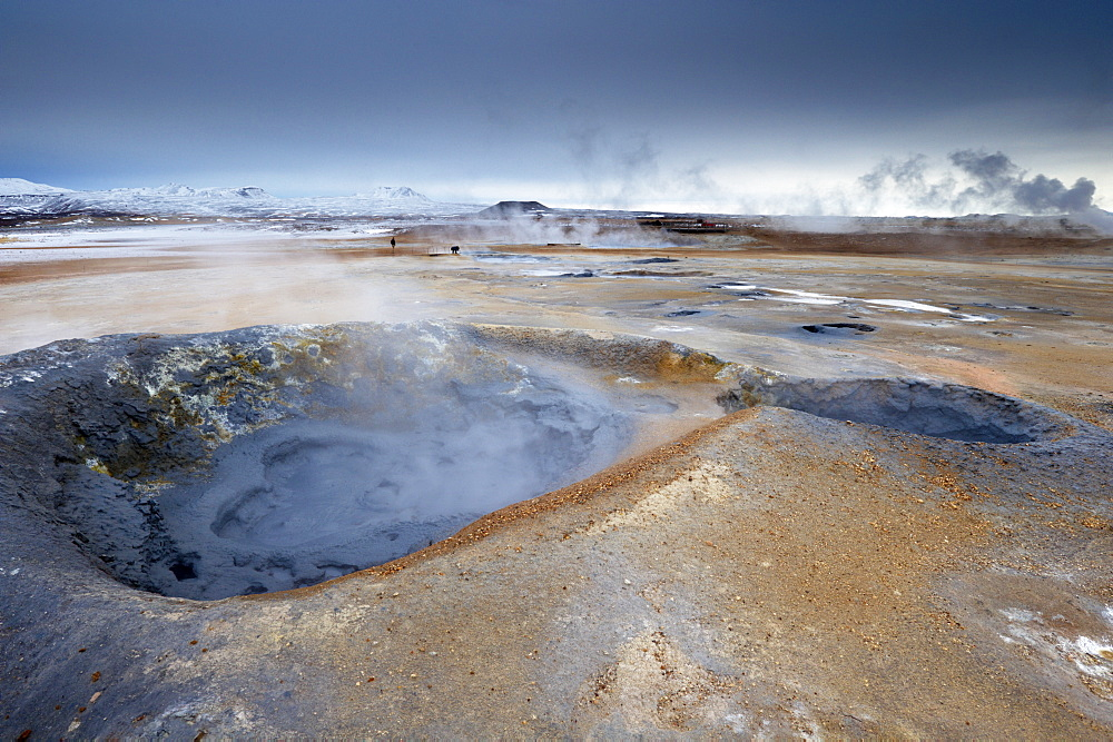 Mudpots at Namaskard geothermal area (Namafjall-Hverarond), near Lake Myvatn and Reykjahlid, North Iceland, Iceland, Polar Regions