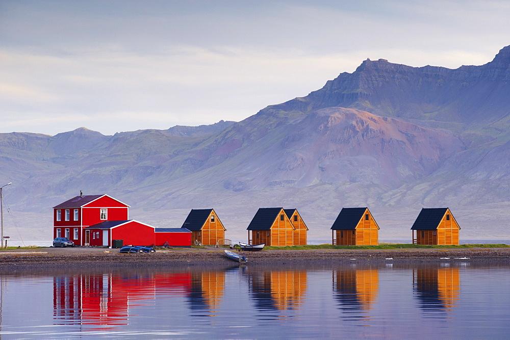 Eskifjordur village, Eskifjordur fjord, East Fjords region (Austurland), Iceland, Polar Regions - 770-1579