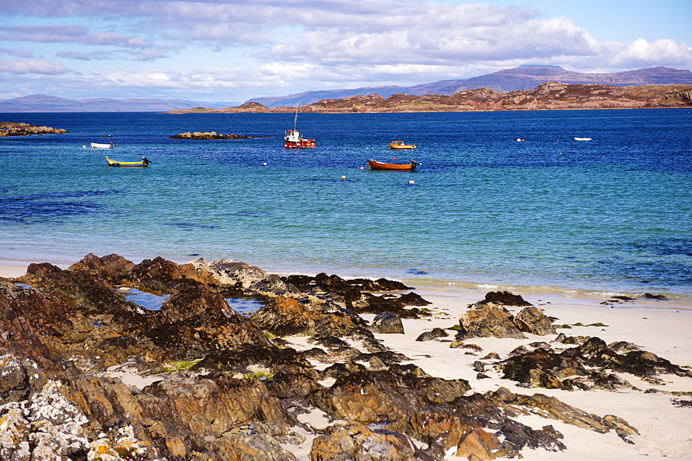 Small boats, Isle of Iona, Inner Hebrides, Scotland, United Kingdom, Europe - 770-1609