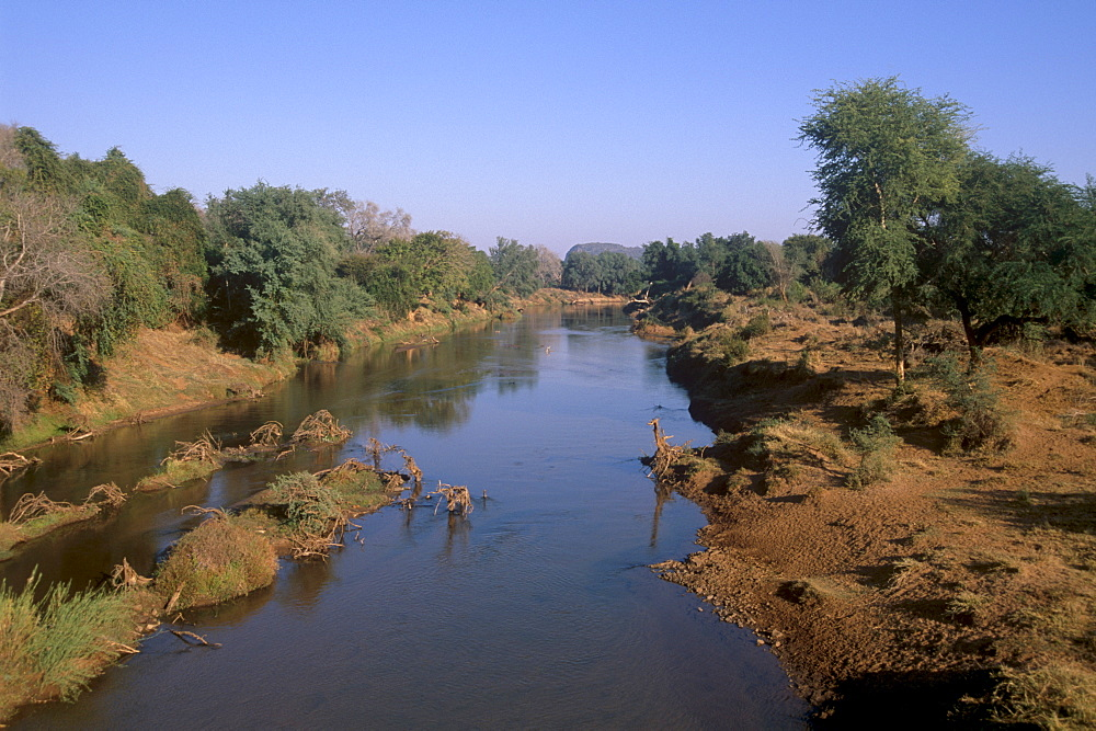 Luvuvhu river, tributary of Limpopo river, northern tip of  Kruger National Park, South Africa, Africa - 770-1717