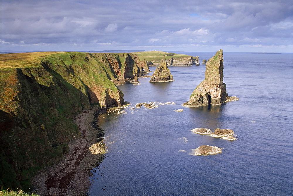 Sea stacks, Duncansby Head, Caithness, Highlands, Scotland, United Kingdom, Europe