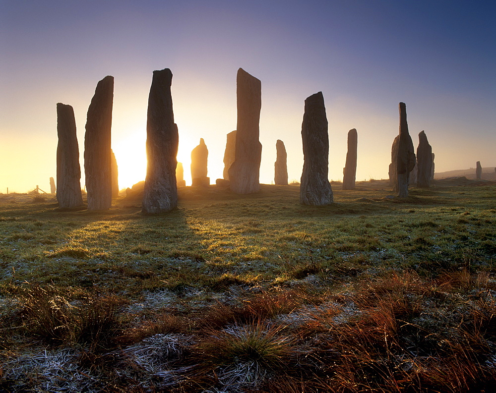 Callanish (Callanais) Standing Stones, erected by Neolithic people between 3000 and 1500 BC, Isle of Lewis, Outer Hebrides, Scotland, United Kingdom, Europe - 770-607