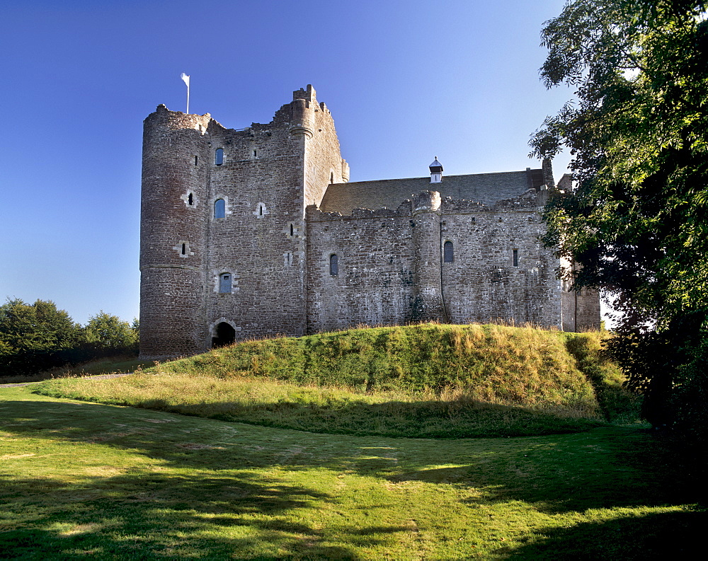 Doune Castle dating from the 14th century built for the Regent Albany, Doune, near Stirling, Scotland, United Kingdom, Europe