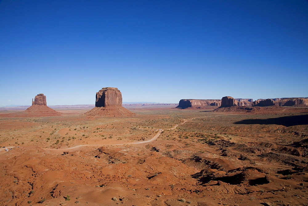 Monument Valley Navajo Tribal Park, Utah Arizona border, United States of America, North America