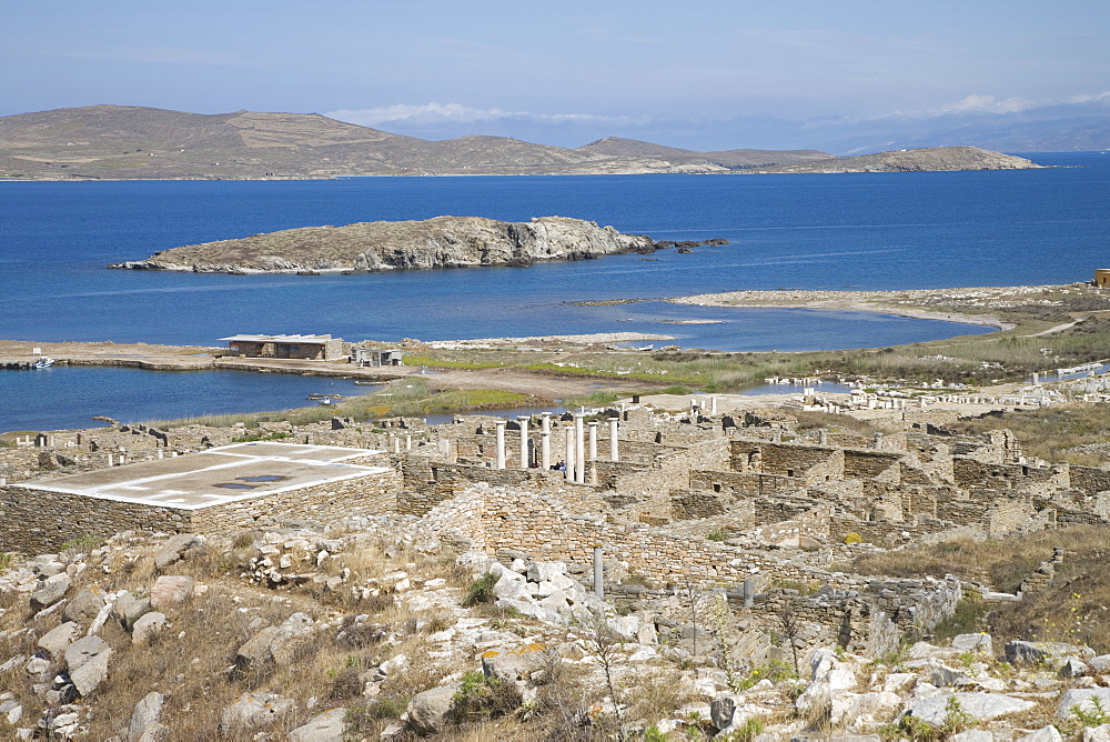 Archaeological site, island of Delos, UNESCO World Heritage Site, Cyclades, Greek Islands, Greece, Europe