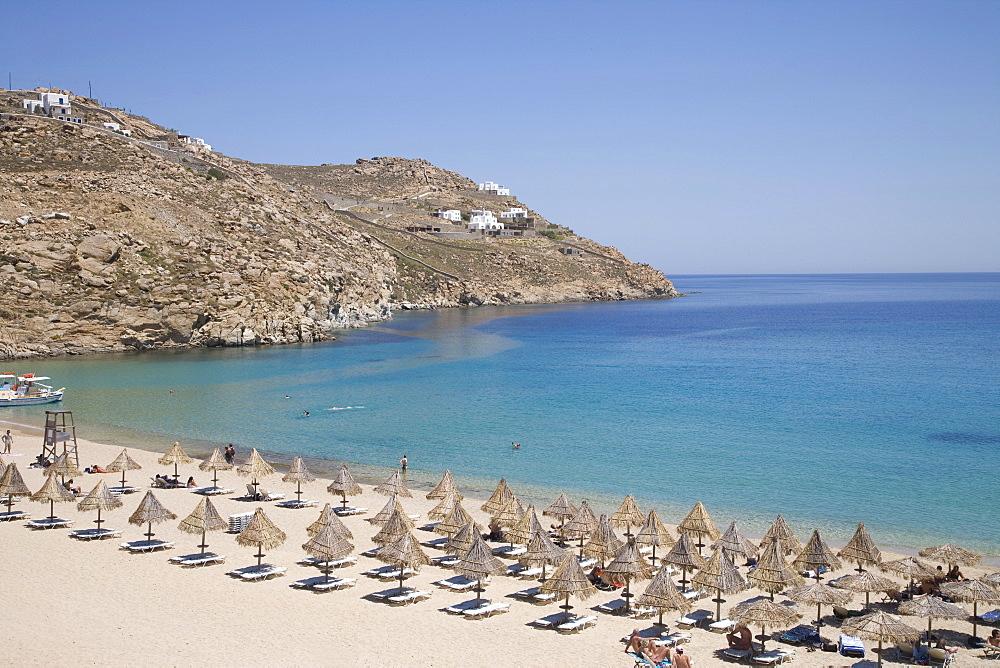 Super Paradise Beach, Mykonos, Cyclades, Greek Islands, Greece, Europe