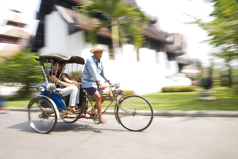 Cycle rickshaw, Chiang Mai, Thailand, Southeast Asia, Asia
