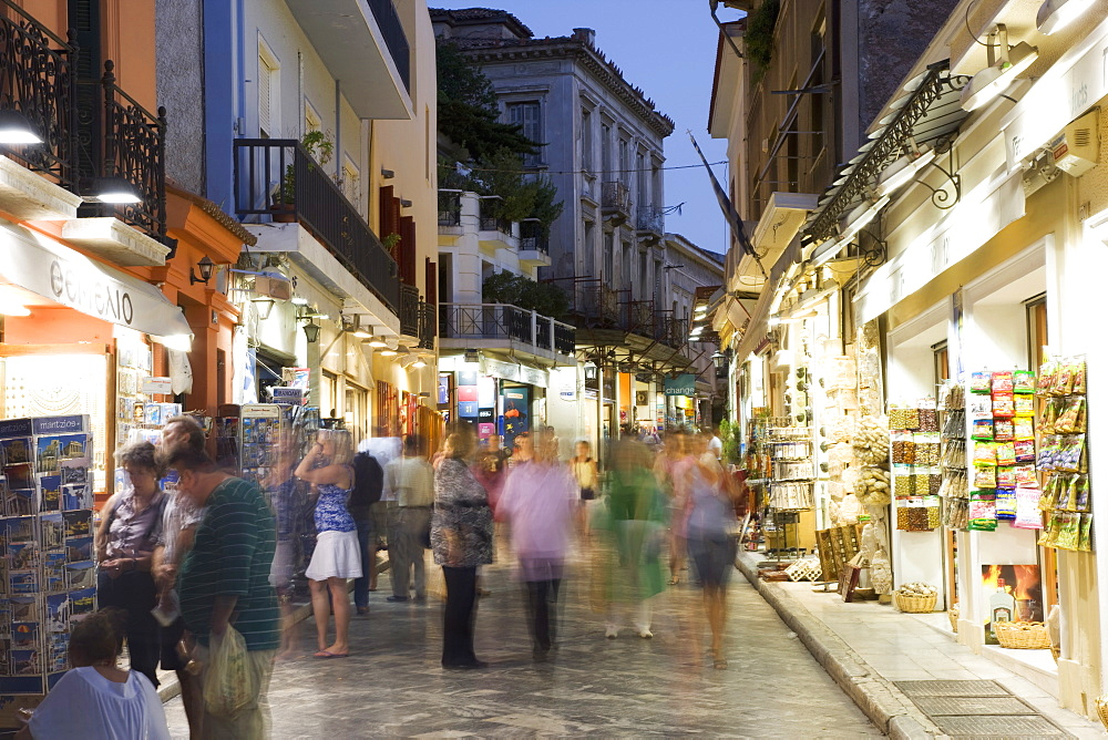 The Plaka District, Athens, Greece, Europe