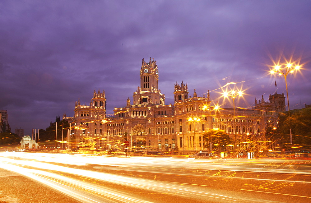 Palacio de Comunicaciones in Plaza de Cibeles, Madrid, Spain, Europe - 772-2905