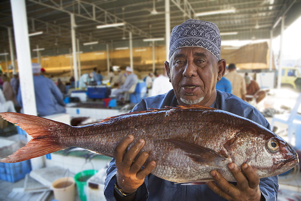 Muscat's fish market, Muscat, Oman, Middle East