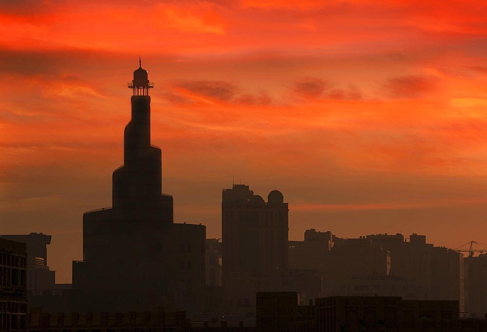 The Islamic Cultural Center Minaret, Doha, Qatar, Middle East