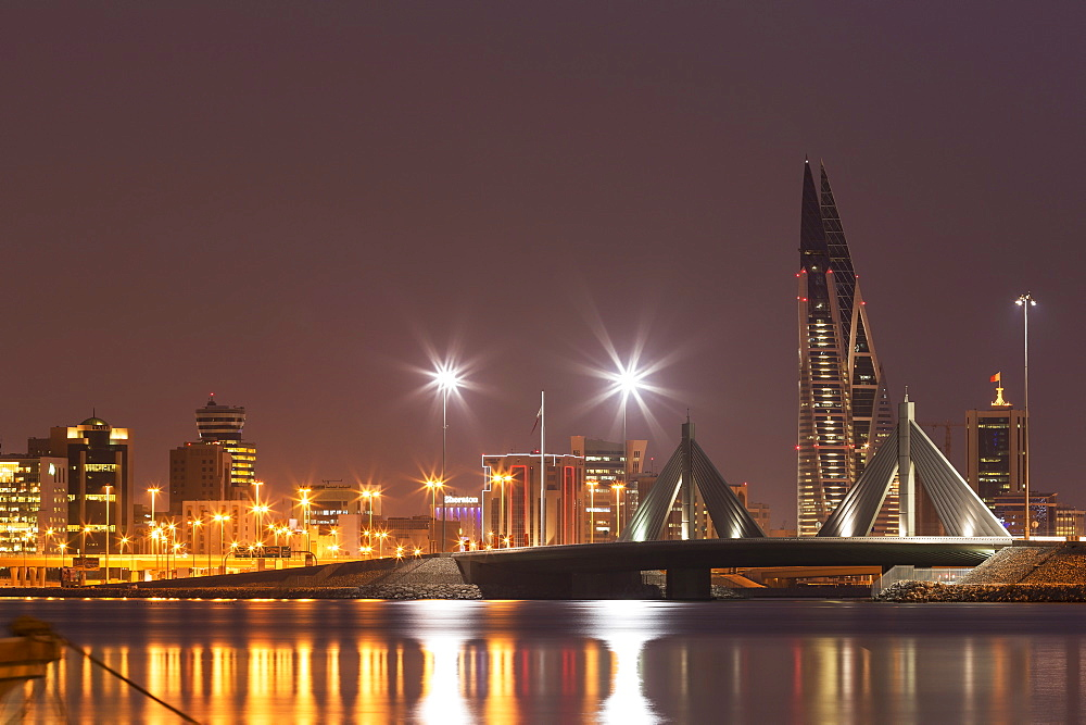 Manama at night, Bahrain, Middle East