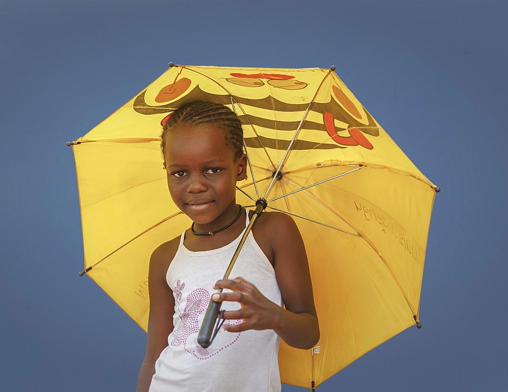 Himba girl, Kaokoland, Namibia, Africa