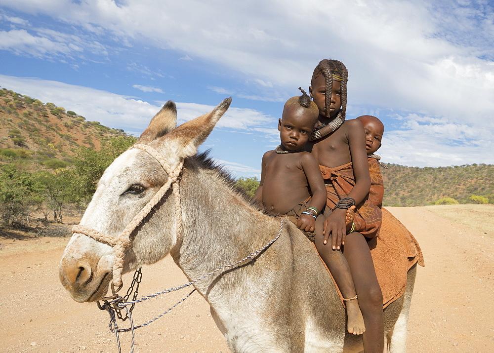 Himba children, Kaokoland, Namibia, Africa