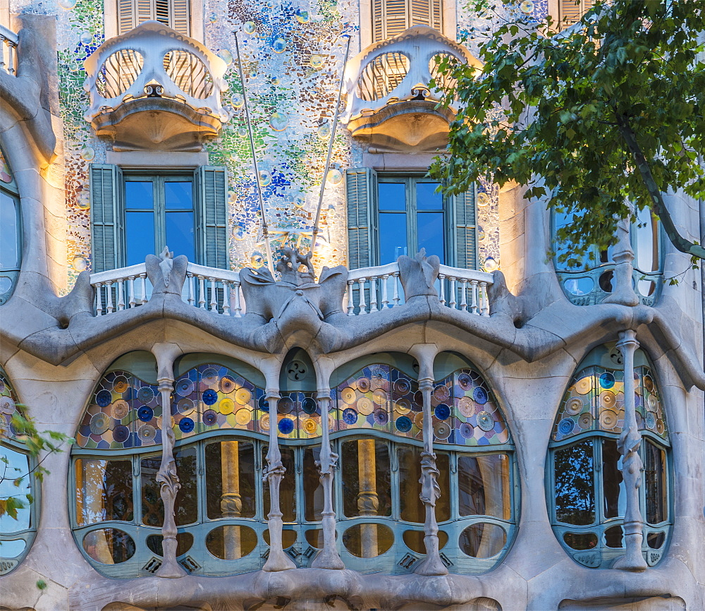 Casa Batllo, UNESCO World Heritage Site, Barcelona, Catalonia, Spain, Europe - 772-3704
