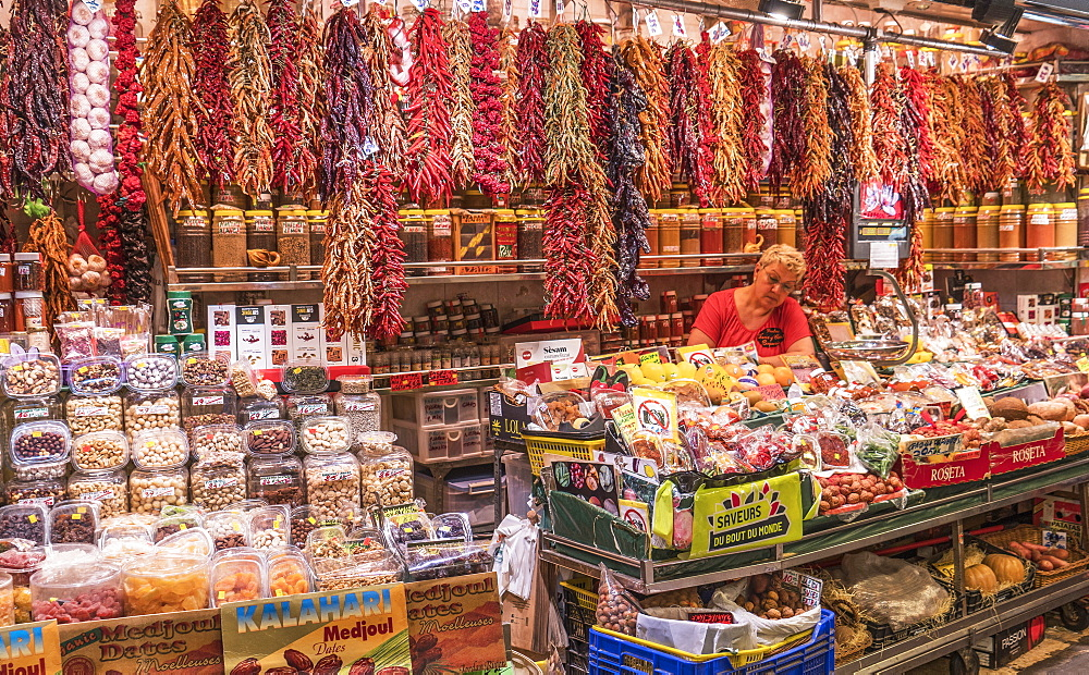 Market La Boqueria, Barcelona, Catalonia, Spain, Europe