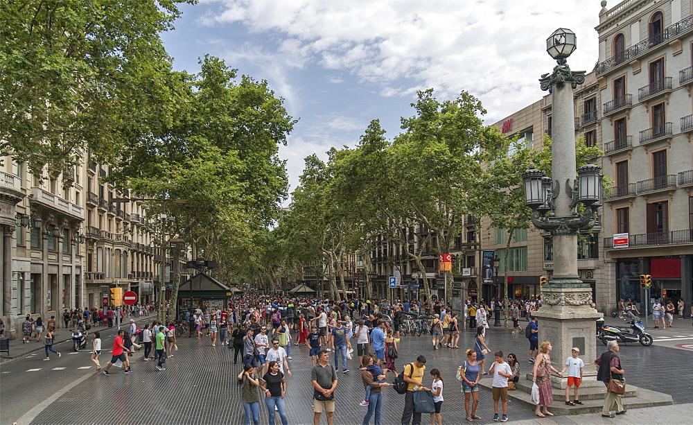 La Rambla, Barcelona, Catalonia, Spain, Europe - 772-3721