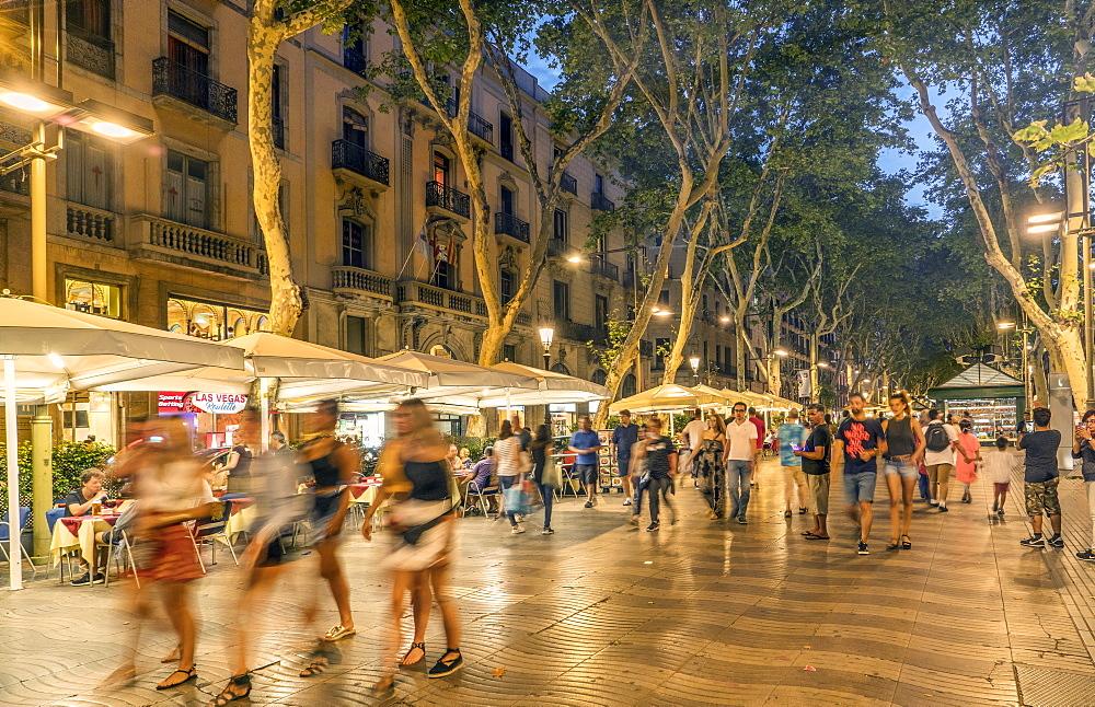 La Rambla, Barcelona, Catalonia, Spain, Europe - 772-3722