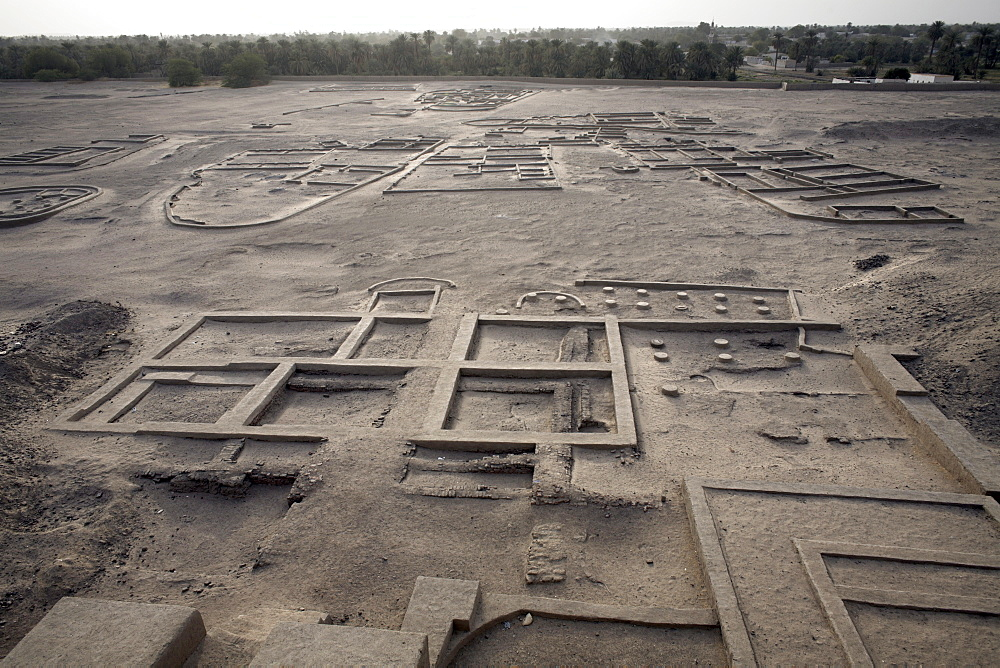 The grounds surrounding the 3,500 year-old mud-brick Western Deffufa, the seat of the first independent kingdom of Kush, Kerma, Sudan, Africa