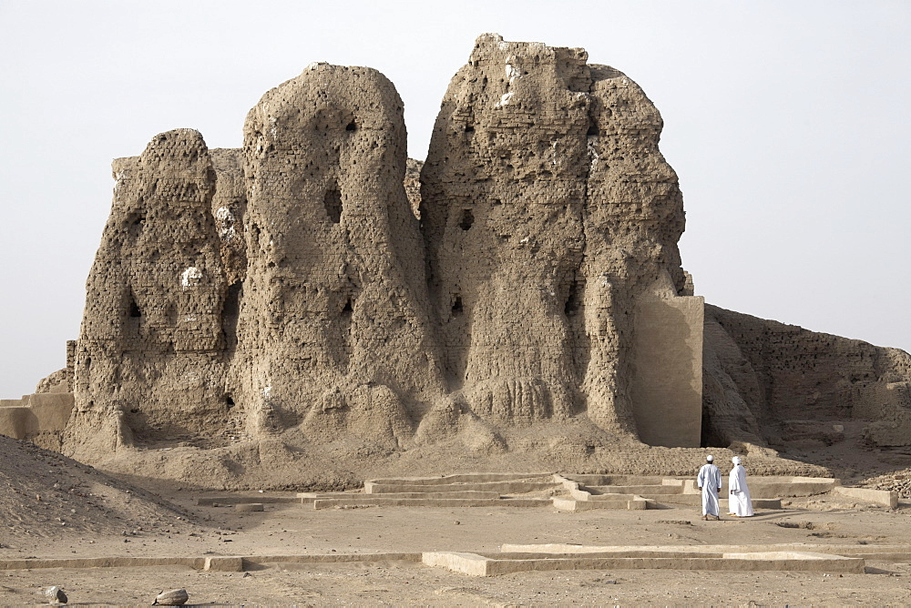 The 3,500 year-old mud-brick Western Deffufa, the seat of the first independent kingdom of Kush, Kerma, Sudan, Africa