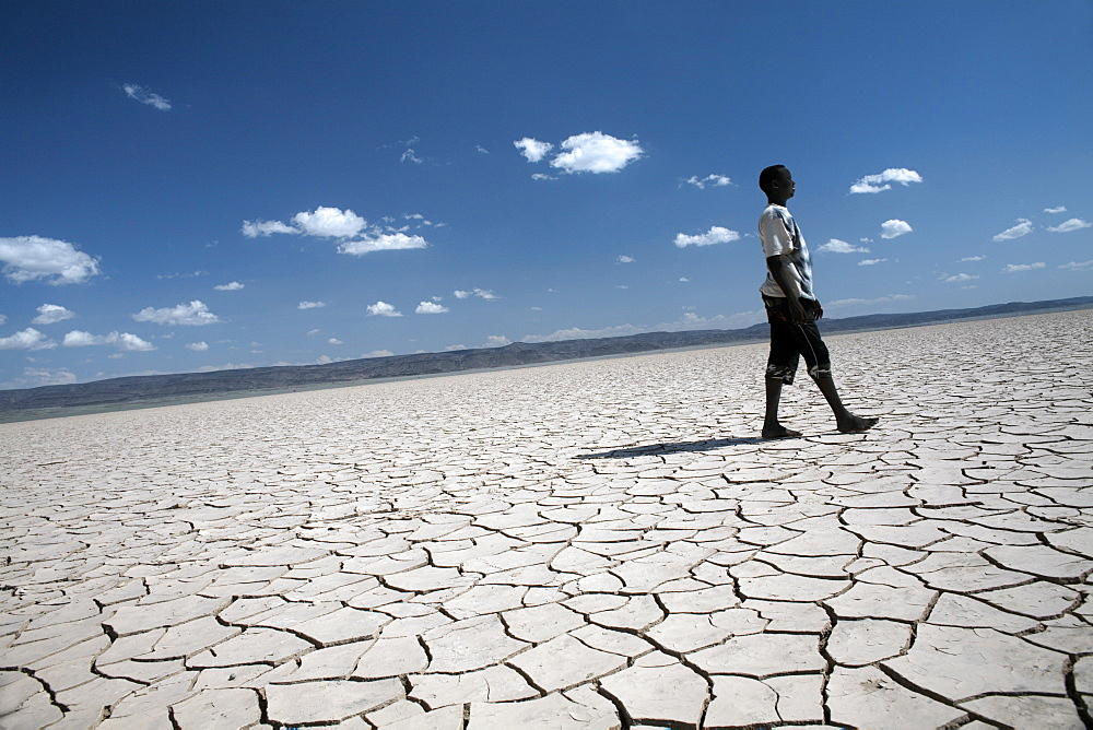 The flat expanse of the Grand Barra Depression, Djibouti, Africa