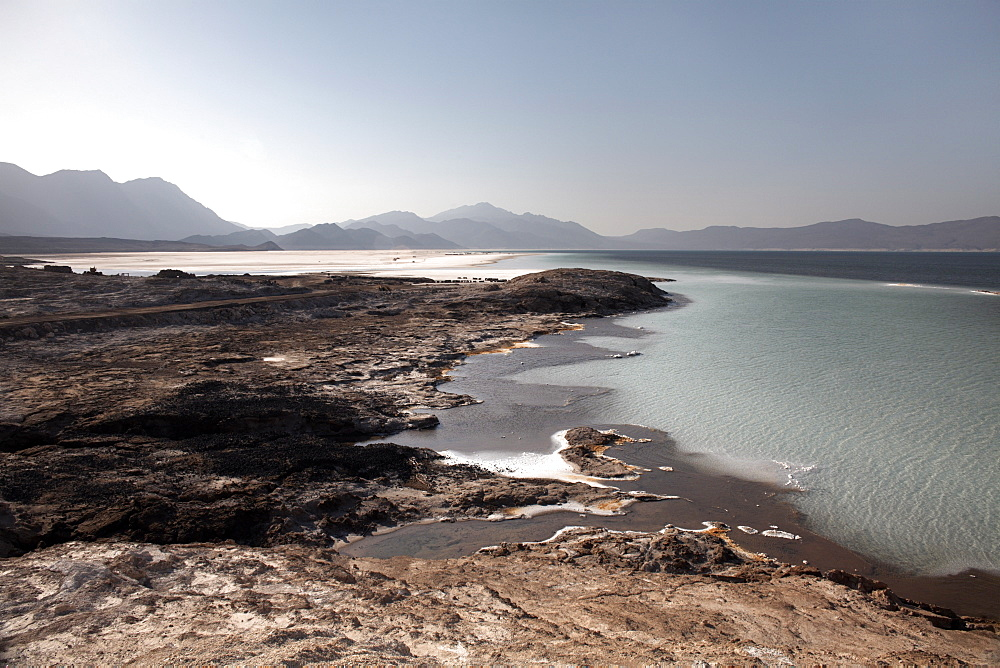 Lac Assal, the lowest point on the African continent and the most saline body of water on earth, Djibouti, Africa