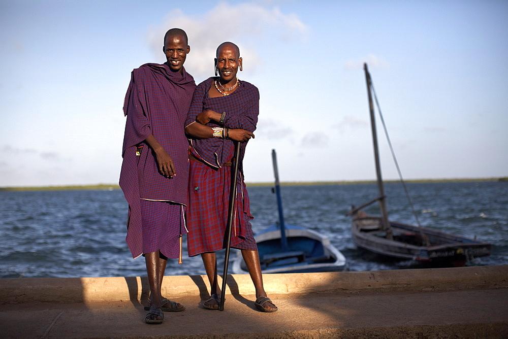 Maasai tribesmen on the island of Lamu, Kenya, East Africa, Africa - 774-744