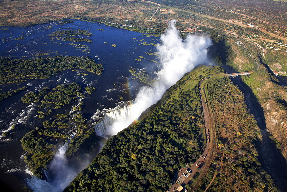 Victoria Falls, UNESCO World Heritage Site, on the border of Zambia and Zimbabwe, Africa