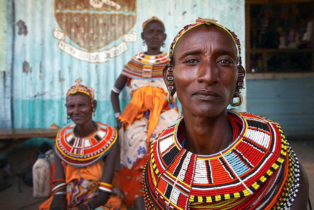 Women from the Samburu tribe, Rift Valley, Northern Kenya, East Africa, Africa - 774-804