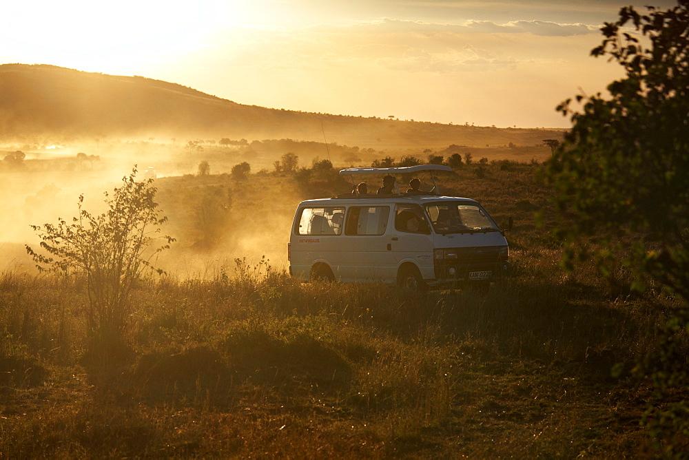 Tourists on safari in the Masai Mara National Reserve, Kenya, East Africa, Africa - 774-807