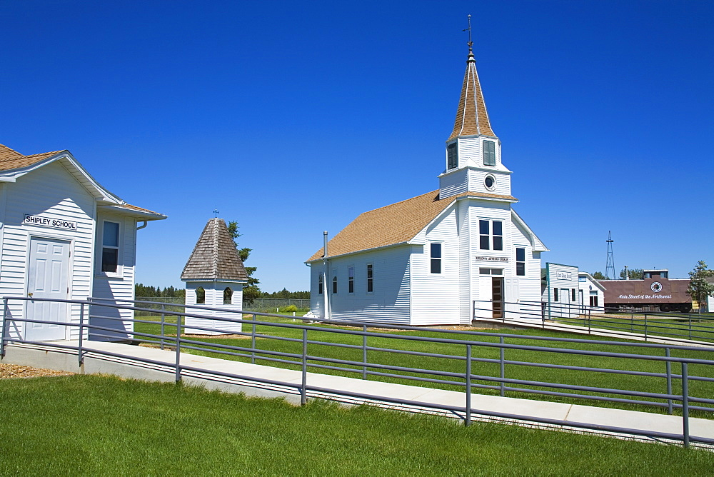 Ridgeway Lutheran Church, Prairie Outpost Park, Dickinson, North Dakota, United States of America, North America