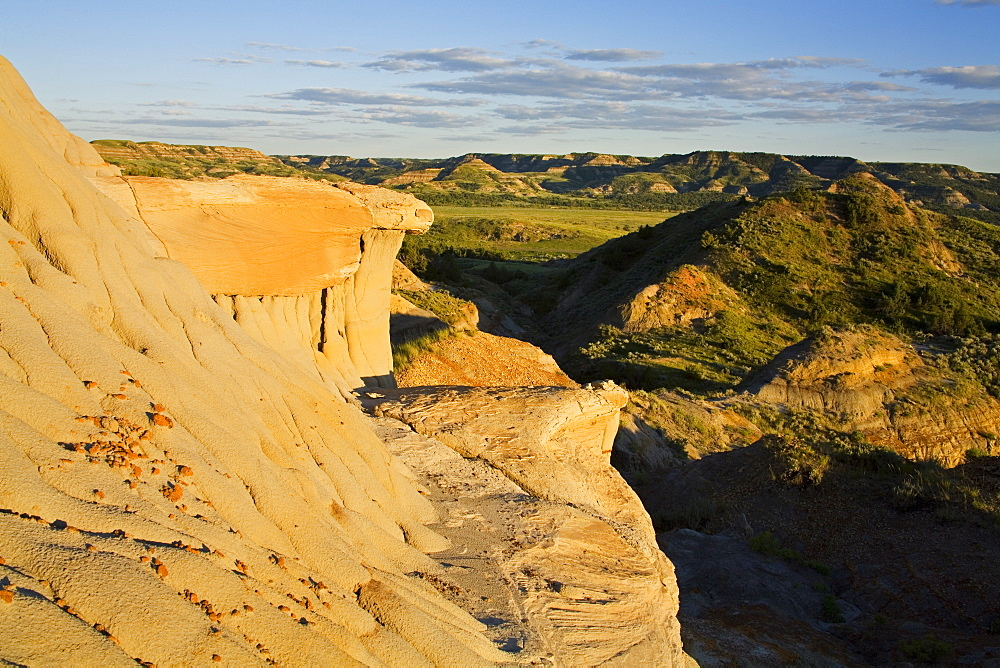 Slump Block area in Theodore Roosevelt National Park North Unit, Watford, North Dakota, United States of America, North America