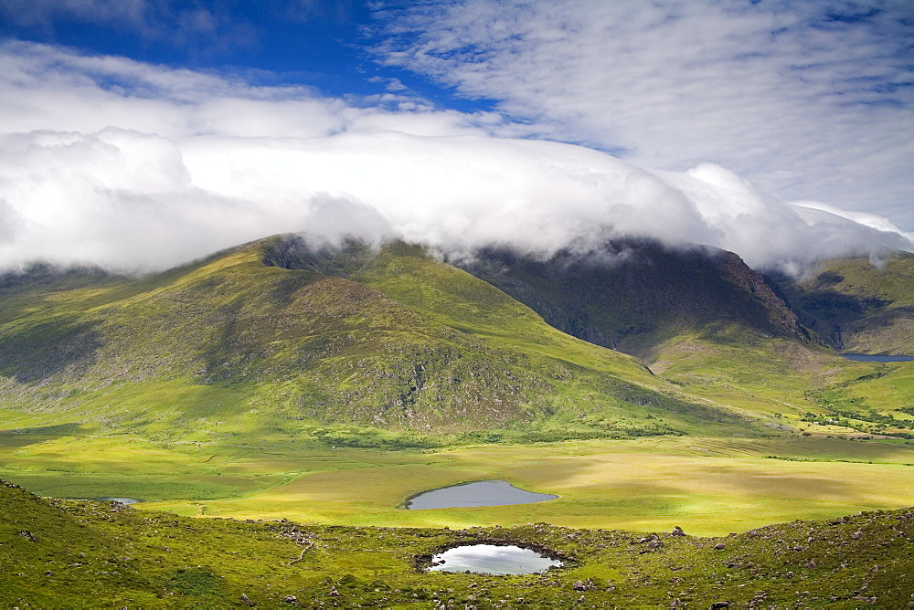 Mount Brandon, Connor Pass, Dingle Peninsula, County Kerry, Munster, Republic of Ireland, Europe - 776-1116