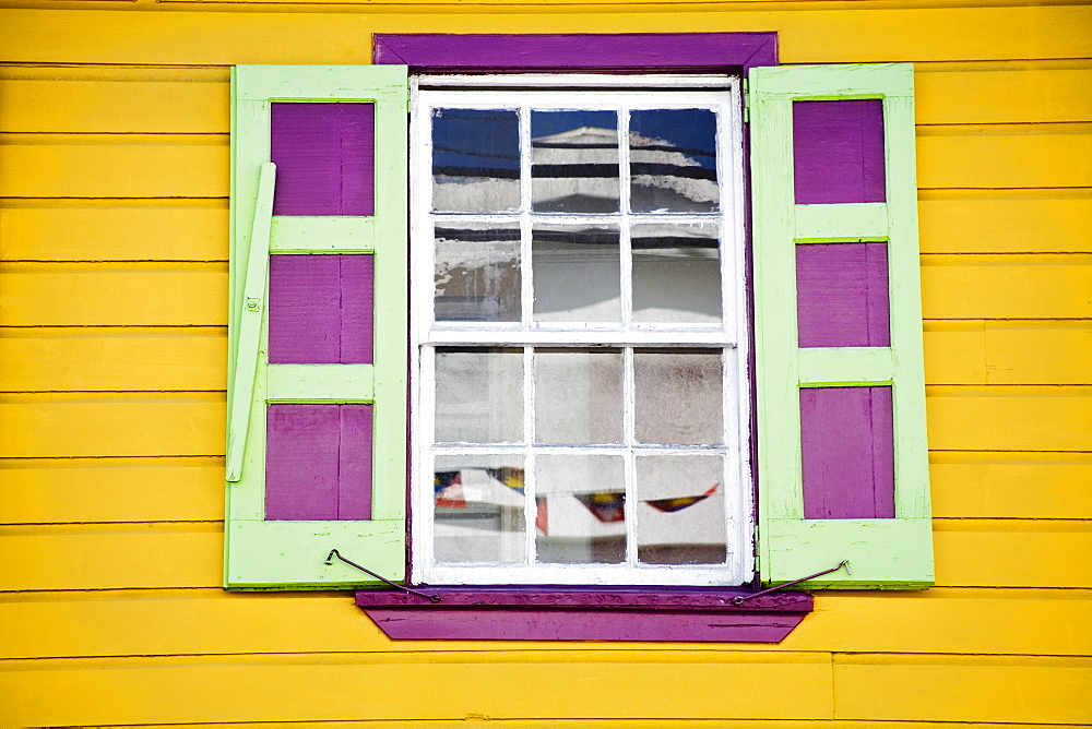 Window shutters, St. Johns, Antigua Island, Lesser Antilles, West Indies, Caribbean, Central America