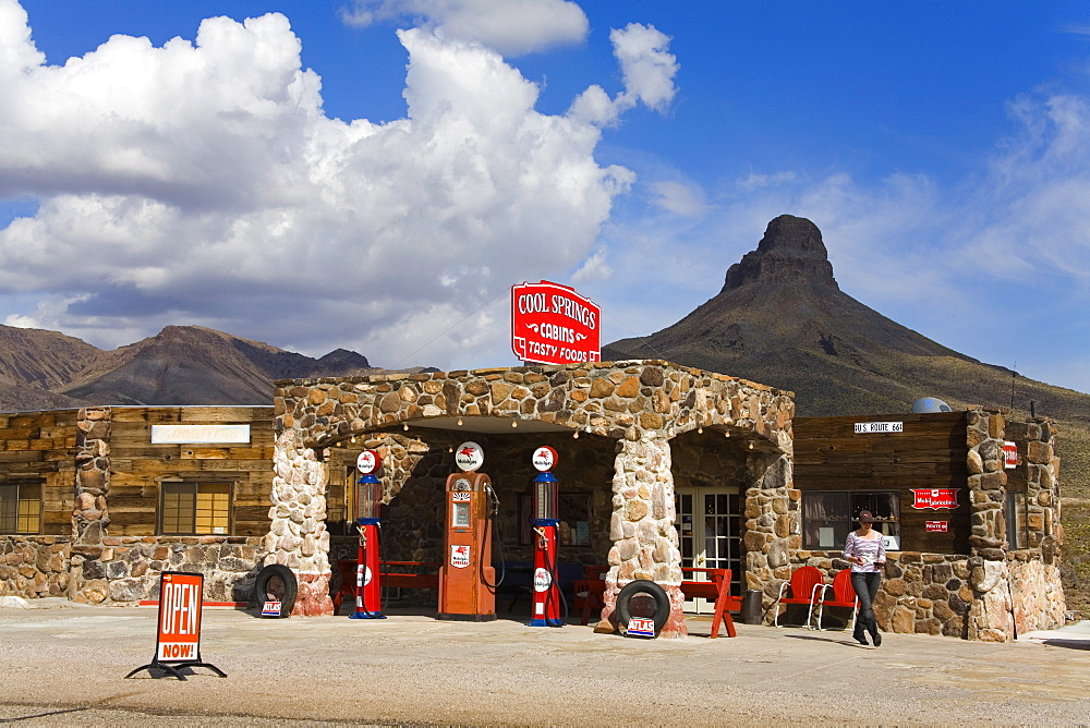 Historic Gas Station, Route 66, Cool Springs, Arizona, United States of America, North America
