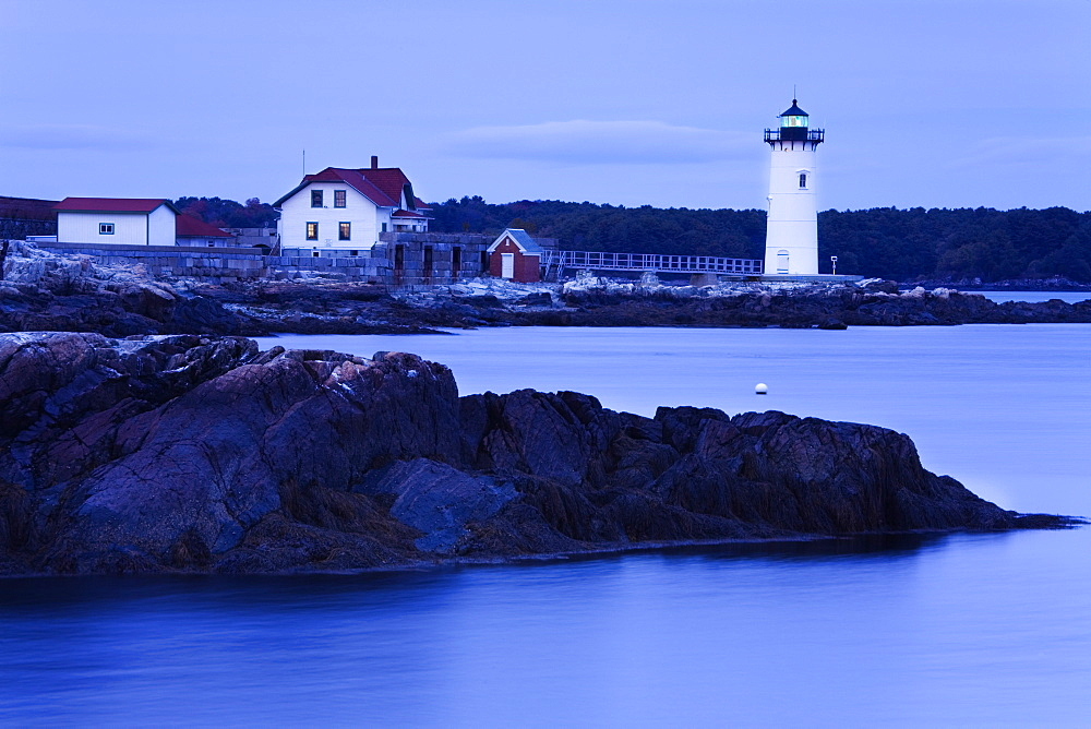 Fort Constitution Lighthouse, Portsmouth, New Hampshire, New England, United States of America, North America - 776-1471