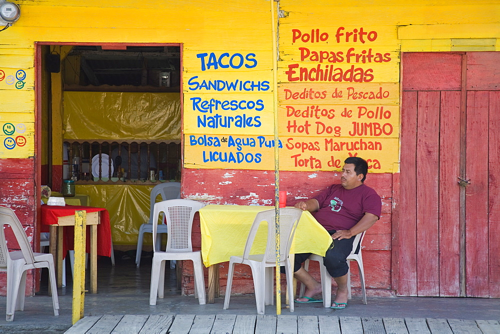 Restaurant in Puerto Corinto, Department of Chinandega, Nicaragua, Central America - 776-1653