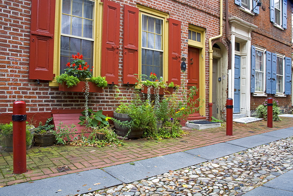 Historic Elfreth's Alley, Old City District, Philadelphia, Pennsylvania, United States of America, North America