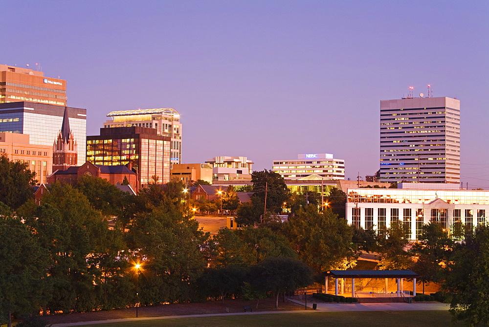 City skyline, Columbia, South Carolina, United States of America, North America