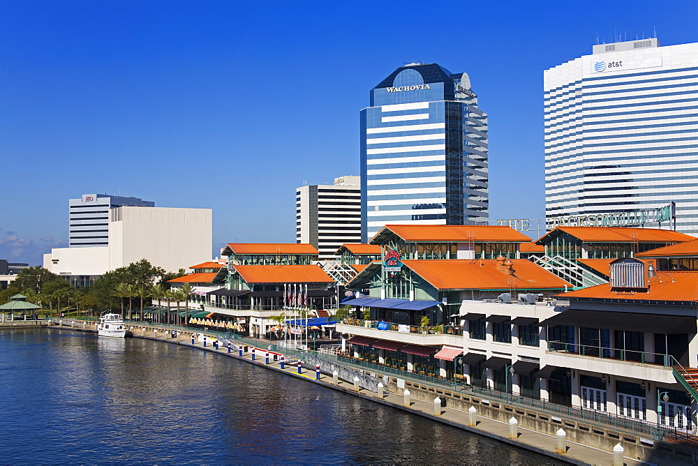 Riverfront and The Jacksonville Landing, Jacksonville, Florida, United States of America, North America