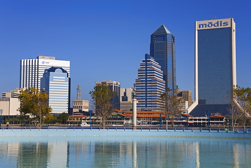Jacksonville skyline, Florida, United States of America, North America