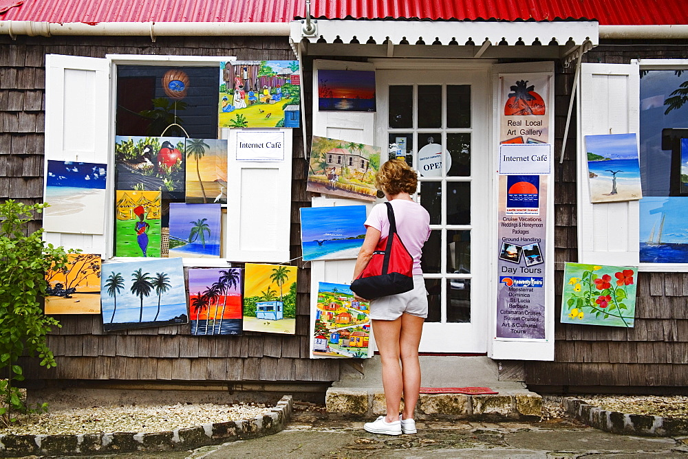 Art gallery, Redcliffe Quay, St. Johns, Antigua Island, Antigua and Barbuda, Leeward Islands, Lesser Antilles, West Indies, Caribbean, Central America