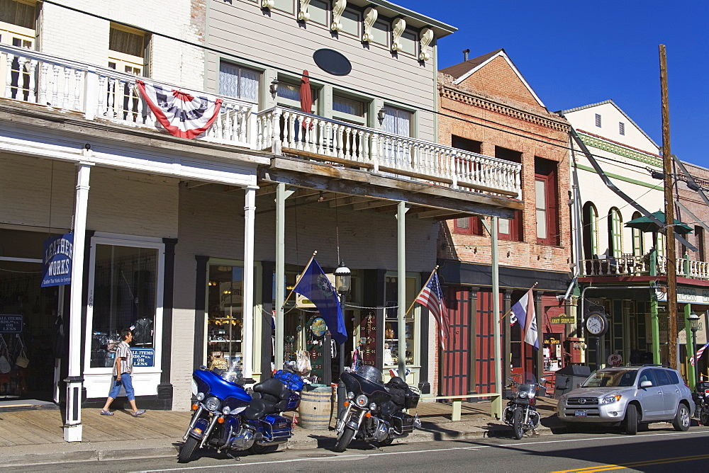 Historic downtown district in Virginia City, Nevada, United States of America, North America