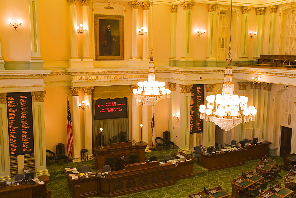 State Assembly in the State Capitol Building, Sacramento, California, United States of America, North America