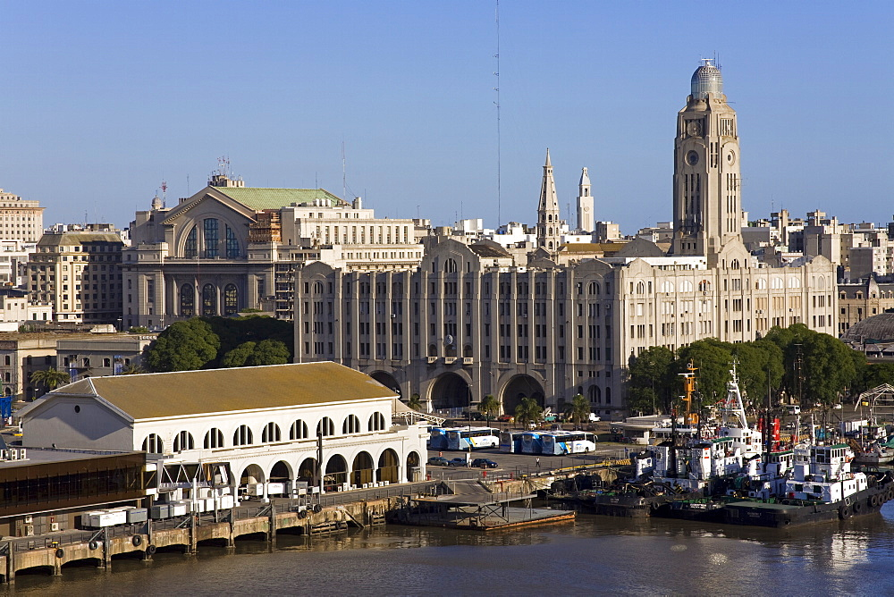 Terminal building in Port of Montevideo, Uruguay, South America