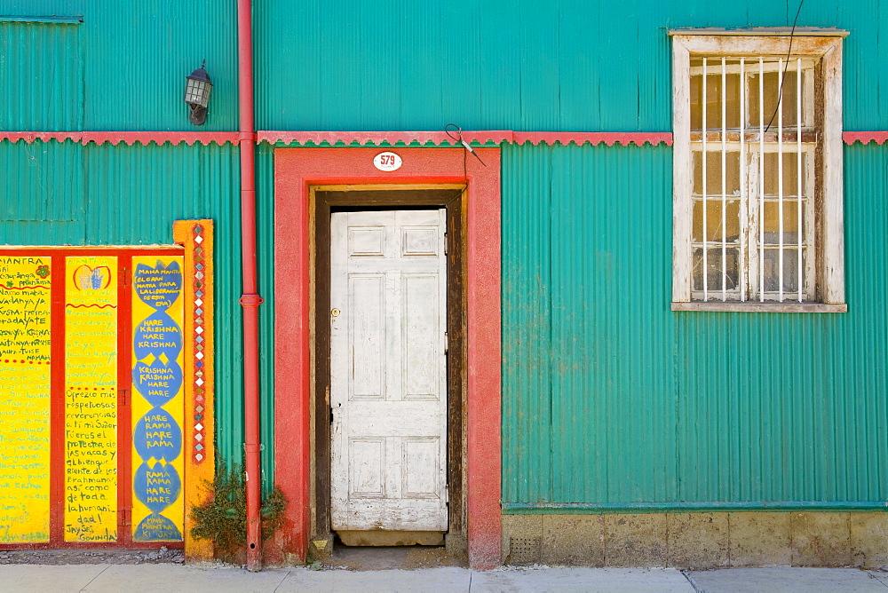 House in Cerro Concepcion, UNESCO World Heritage Site, Valparaiso, Chile, South America - 776-2438