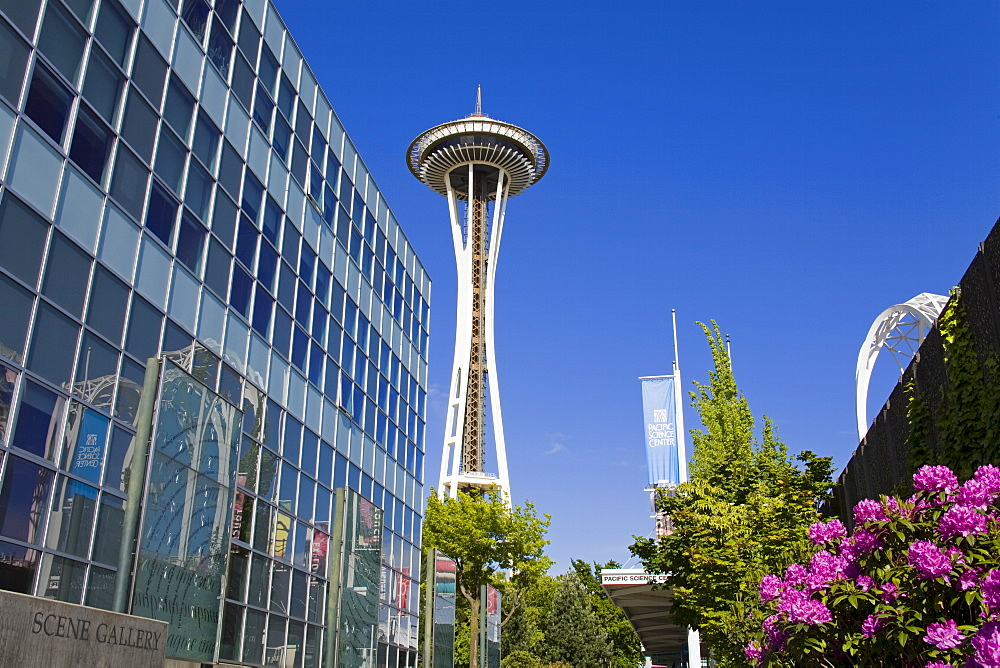 The Space Needle, Seattle Center, Seattle, Washington State, United States of America, North America