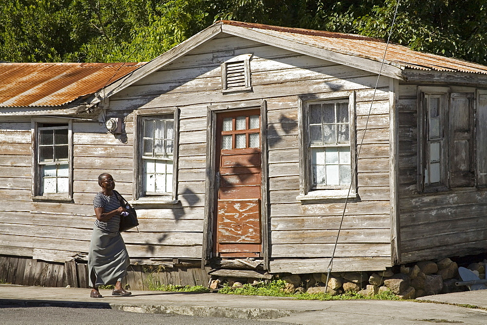 Wooden House, St. Johns City, Antigua Island, Antigua and Barbuda, Lesser Antilles, West Indies, Caribbean, Central America