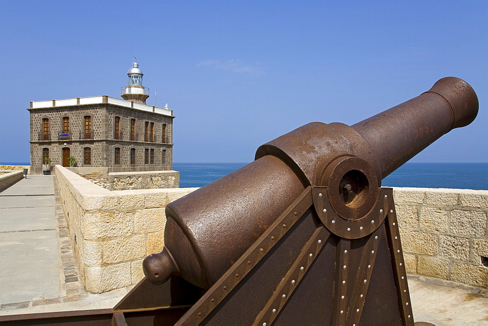 Lighthouse and artillery, Medina Sidonia (old town) District, Melilla, Spain, Spanish North Africa, Africa